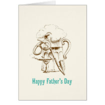 Beer & Pretzel Father's Day card