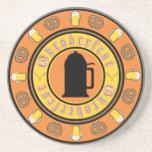 Beer, Pretzels, Stein Beverage Coaster