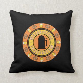 Beer, Pretzels, Stein Throw Pillow