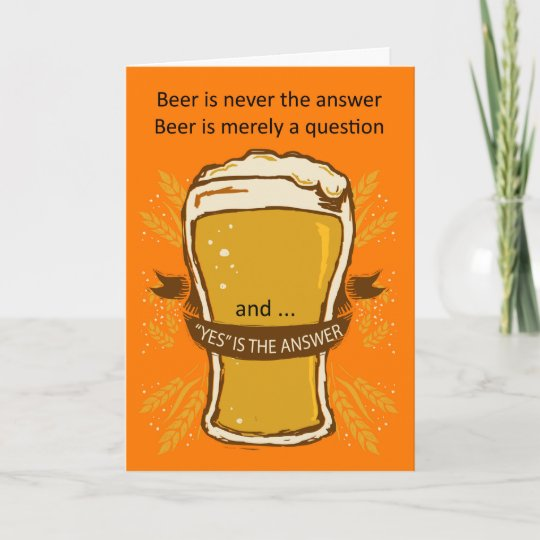 beer quote birthday card birthday beer lads card