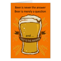 Beer Quote Birthday Card, Birthday Beer, Lads Card