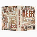 Beer Recipes 3 Ring Binder
