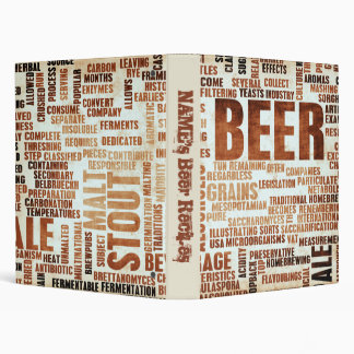 Beer Recipes 3 Ring Binder