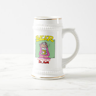 Beer...Recommended by Doctor Mom 18 Oz Beer Stein
