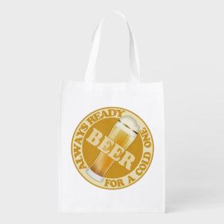 BEER reusable bag Reusable Grocery Bag