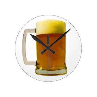 Beer Round Clock