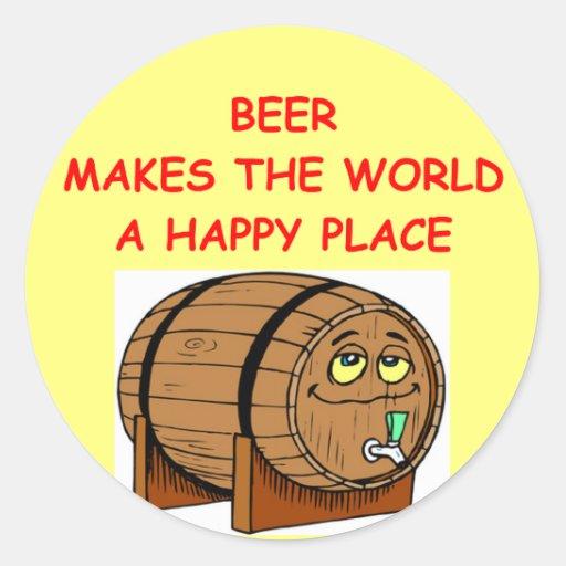 beer round stickers