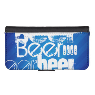 Beer, Royal Blue Stripes iPhone 5 Wallet Case