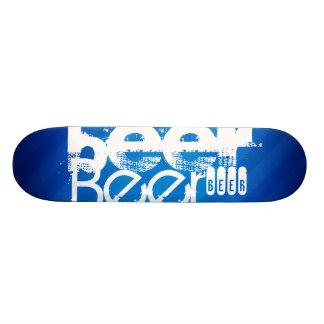Beer, Royal Blue Stripes Skate Decks