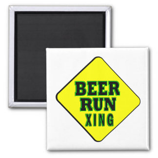 Beer Run Crossing 2 Inch Square Magnet