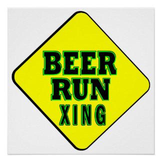 Beer Run Crossing Poster