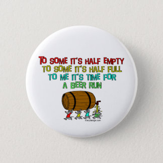 Beer Run Humor Pinback Button