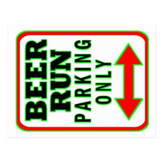 Beer Run Parking Only Postcard