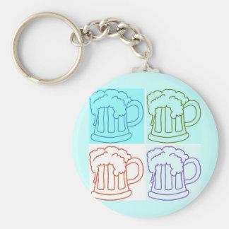 Beer Runner/Oktoberfest Basic Round Button Keychain