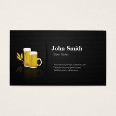 Beer Sales - Professional Premium Black Mesh Business Card at Zazzle