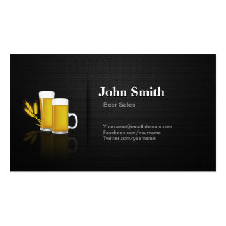 Beer Sales - Professional Premium Black Mesh Double-Sided Standard Business Cards (Pack Of 100)