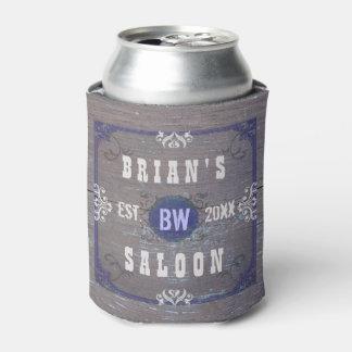 Beer Saloon Customizable Home Bar Rustic Wood Can Cooler