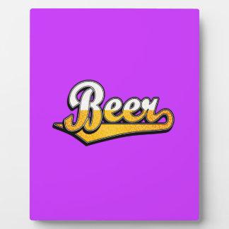 Beer script logo display plaque