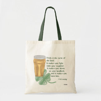 Beer & Shamrock/Irish Saying Bag