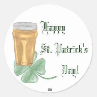 Beer & Shamrock (St. Patricks Day) Stickers