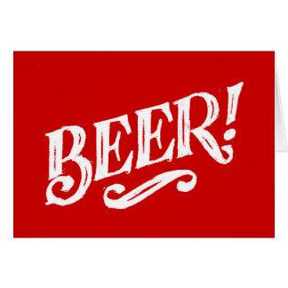 BEER SHOUTOUT RED WHITE BAR BEVERAGE ALCOHOLIC LOG CARD
