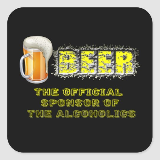 Beer Sponsored Square Sticker
