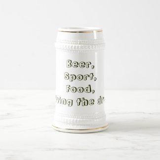 Beer,Sport,Food,I'm living the dream! Beer Stein