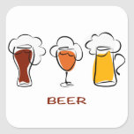 Beer Square Stickers
