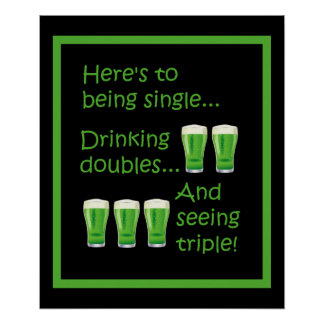 Beer St Patrick's Drinking Doubles Party Poster
