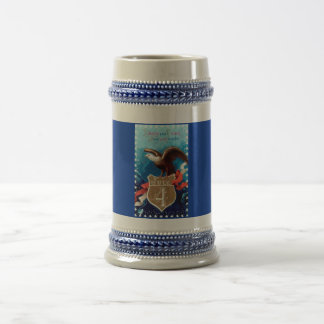 Beer Stein 18oz. w/ Vintage Classic 4th. of July