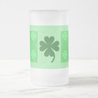 Beer Stein by Janz Lucky Charms 16 Oz Frosted Glass Beer Mug