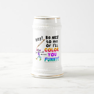 Beer Stein - Color You Funny 18 Oz Beer Stein