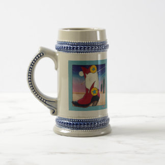 Beer, Stein - Cowboy Boot, All Dressed Up