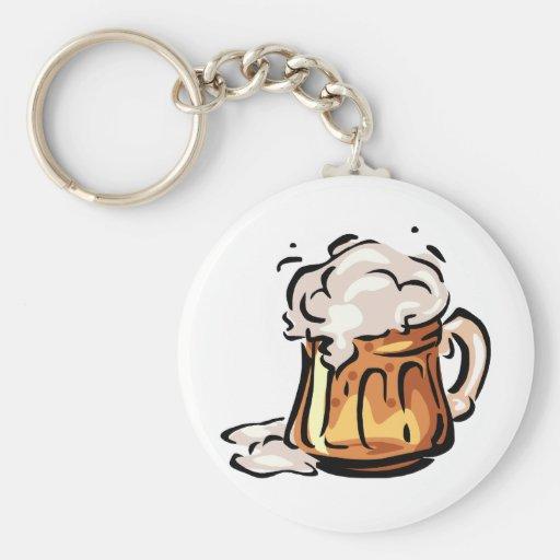 Beer Stein for Octoberfest Keychain