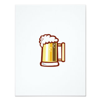 Beer Stein Isolated Retro Card