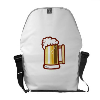 Beer Stein Isolated Retro Courier Bag