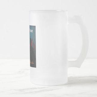 Beer Stein; Pennan Brae's 'Amber Glow' 16 Oz Frosted Glass Beer Mug
