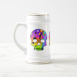 Beer, Stein - POP ART SKULLS