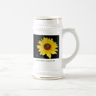 Beer Stein - Striking Sunflower