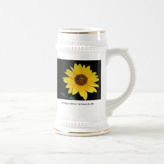 Beer Stein - Striking Sunflower 18 Oz Beer Stein
