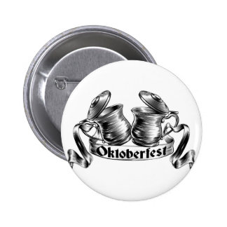 Beer Stein Tankard Toast Oktoberfest Concept Button