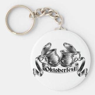 Beer Stein Tankard Toast Oktoberfest Concept Keychain