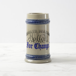 Beer Stein Time For Change 2008 18 Oz Beer Stein