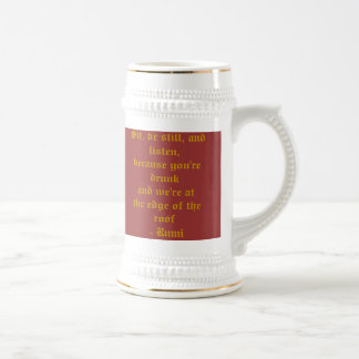 Beer Stein with Rumi quote