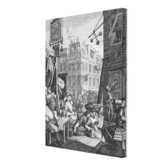 Beer Street, 1751 Gallery Wrap Canvas
