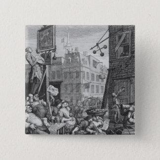 Beer Street, 1751 Pinback Button