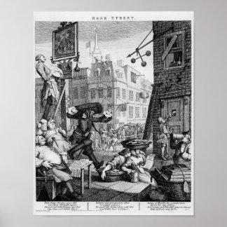 Beer Street, 1751 Poster