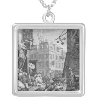 Beer Street, 1751 Silver Plated Necklace