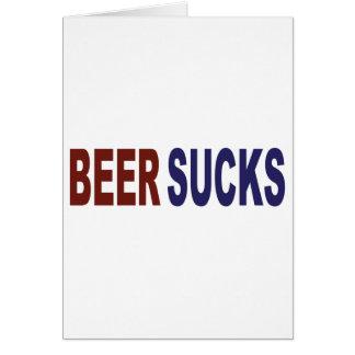 Beer Sucks Card