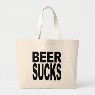 Beer Sucks Large Tote Bag